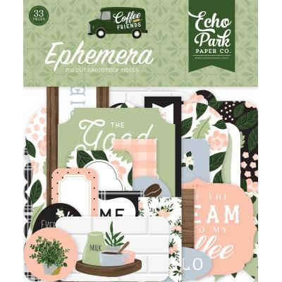 Echo Park Coffee & Friends Die Cuts - Ephemera