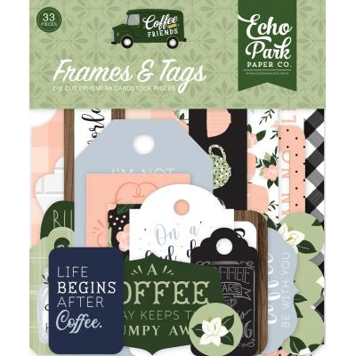 Echo Park Coffee & Friends Die Cuts - Frames & Tags