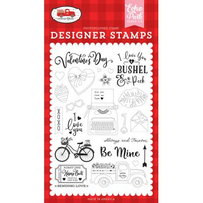 Echo Park Cupid & Co. Clear Stamps - Be Mine