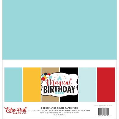 Echo Park Magical Birthday Boy Cardstock - Solids Kit