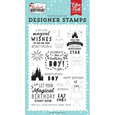 Echo Park Magical Birthday Boy Clear Stamps - Wishes Come True