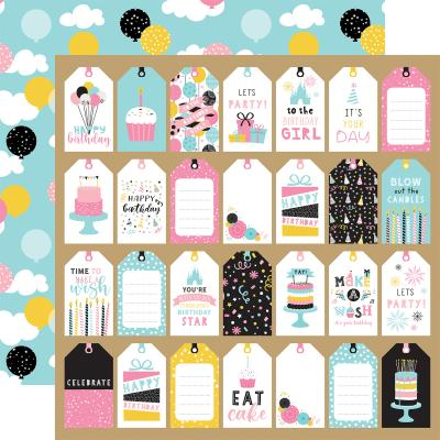Echo Park Magical Birthday Girl Designpapier - Gift Tags