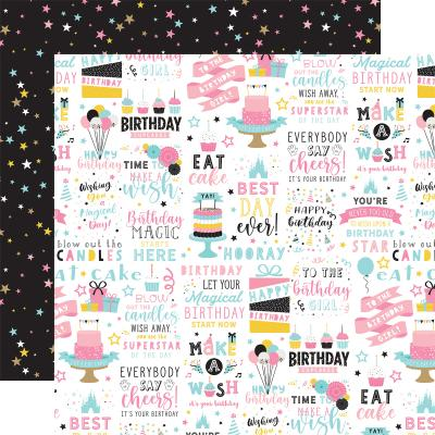 Echo Park Magical Birthday Girl Designpapier - Birthday Magic