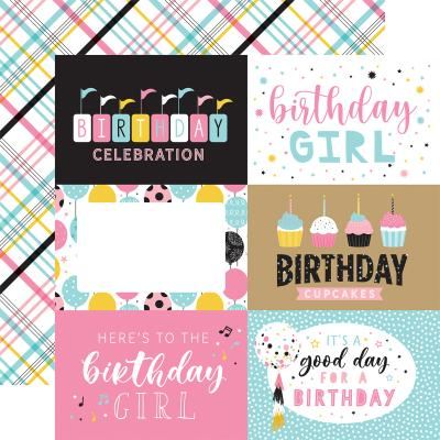 Echo Park Magical Birthday Girl Designpapier - 6 x 4 Journaling Cards