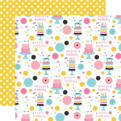 Echo Park Magical Birthday Girl Designpapier - Happy Birthday