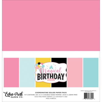 Echo Park Magical Birthday Girl Cardstock - Solids Kit