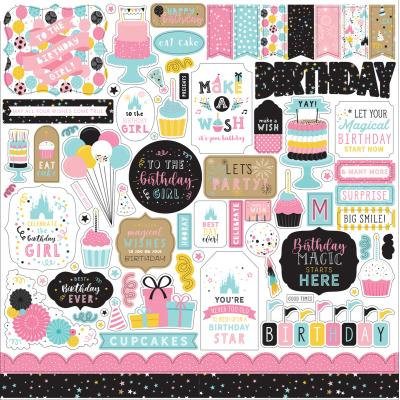 Echo Park Magical Birthday Girl - Element Sticker