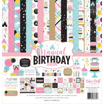 Echo Park Magical Birthday Girl Designpapier - Collection Kit
