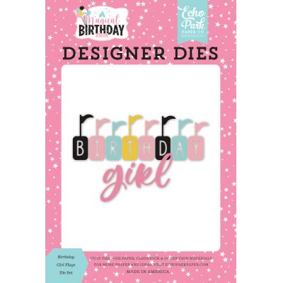 Echo Park Magical Birthday Girl Die Set - Birthday Girl Flags