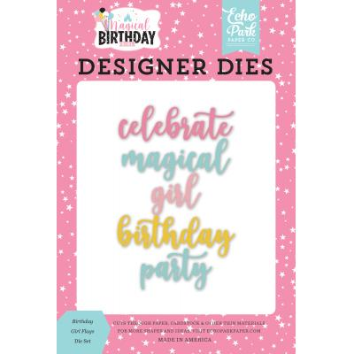 Echo Park Magical Birthday Girl Word Die Set - Magical Birthday Girl