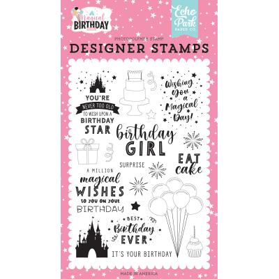 Echo Park Magical Birthday Girl Clear Stamps - Birthday Magic