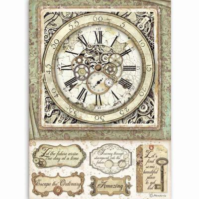 Stamperia Lady Vagabond Rice Paper -Clock With Mechanisms