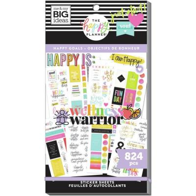 me & my BIG ideas The Happy Planner Value Pack Sticker - Happy Goals