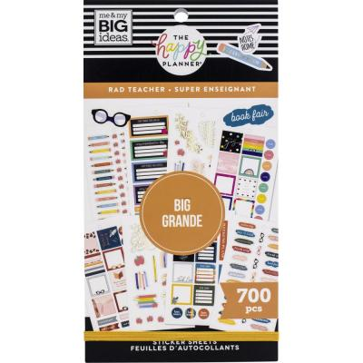 me & my BIG ideas The Happy Planner Value Pack Sticker - Rad Teacher Big