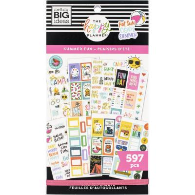 me & my BIG ideas The Happy Planner Value Pack Sticker - Summer Fun