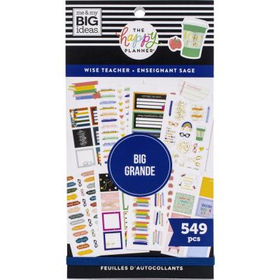 me & my BIG ideas The Happy Planner Value Pack Sticker - Wise Teacher Big