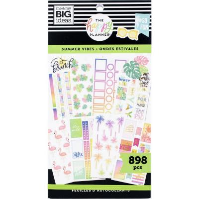 me & my BIG ideas The Happy Planner Value Pack Sticker - Summer Vibes