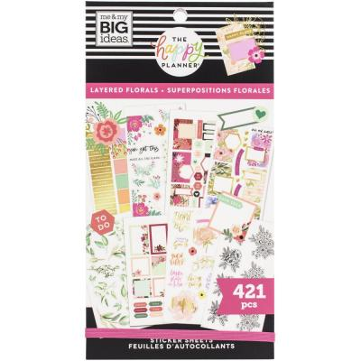me & my BIG ideas The Happy Planner Value Pack Sticker - Layered Florals