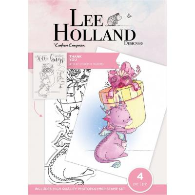 Crafter's Companion Lee Holland Clear Stamps - Thank You
