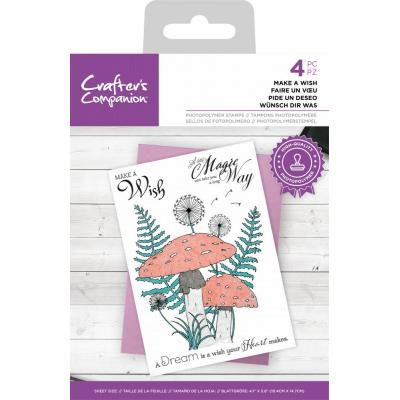 Crafter's Companion Clear Stamps - Make A Wish