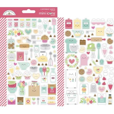 Doodlebug Made With Love - Mini Icons Sticker