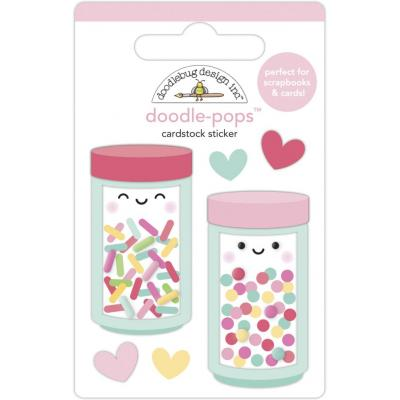 Doodlebug Made With Love Sticker - Sprinkle Shoppe