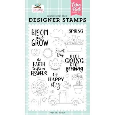 Echo Park Welcome Spring Clear Stamps - Sweet Day Stamp Set