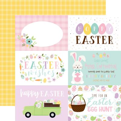 Echo Park Welcome Easter Designpapier - 6x4 Journaling Cards