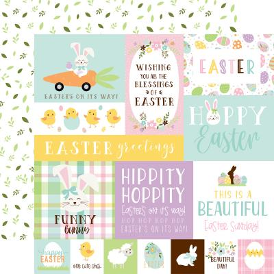 Echo Park Welcome Easter Designpapier - Multi Journaling Cards