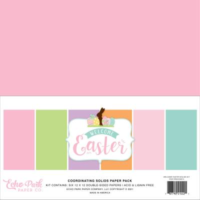 Echo Park Welcome Easter Cardstock - Solids Kit