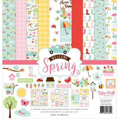 Echo Park Welcome Spring Designpapier - Collection Kit