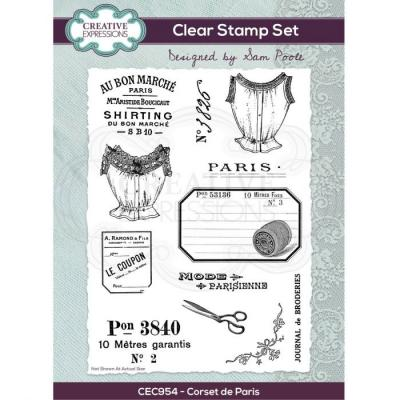 Creative Expressions Clear Stamps -  Corset De Paris