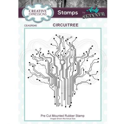 Creative Expressions Rubber Stamp - Circuitree