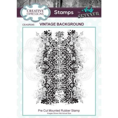 Creative Expressions Rubber Stamp - Vintage Background