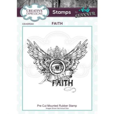 Creative Expressions Rubber Stamp - Faith