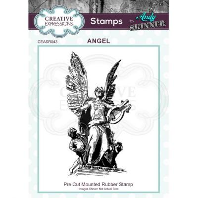 Creative Expressions Rubber Stamp - Angel