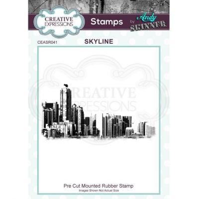 Creative Expressions Rubber Stamp - Skyline