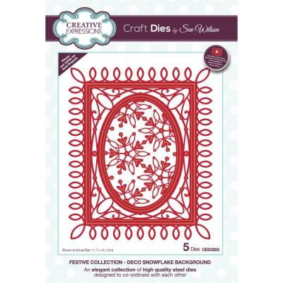 Creative Expressions Craft Dies - Snowflake Background