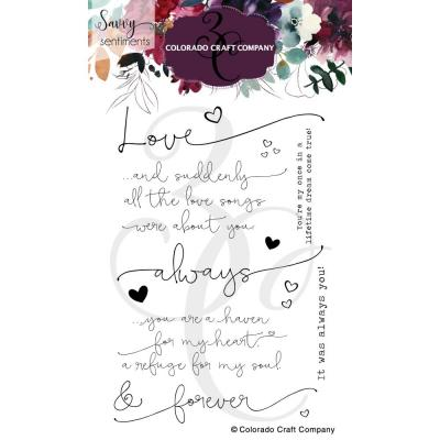 Colorado Craft Company Clear Stamps - Always & Forever Savvy Sentiments