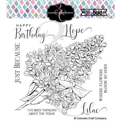 Colorado Craft Company Clear Stamps - Just Because Lilacs Big & Bold