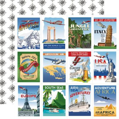 Carta Bella Our Travel Adventure Designpapier - Travel Posters