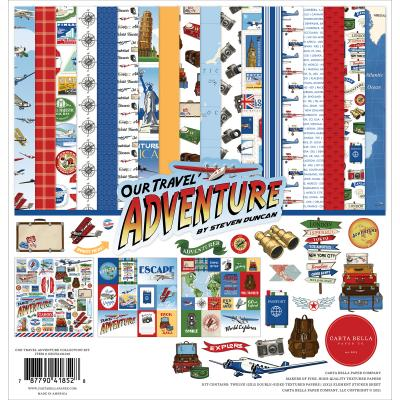 Carta Bella Our Travel Adventure Designpapier - Collection Kit