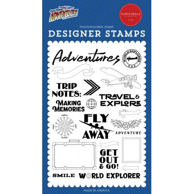 Carta Bella Our Travel Adventure Clear Stamps - Our Travel Adventure