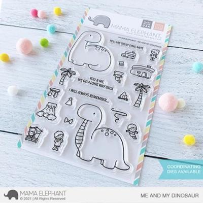 Mama Elephant Clear Stamps - Me And My Dinosaur