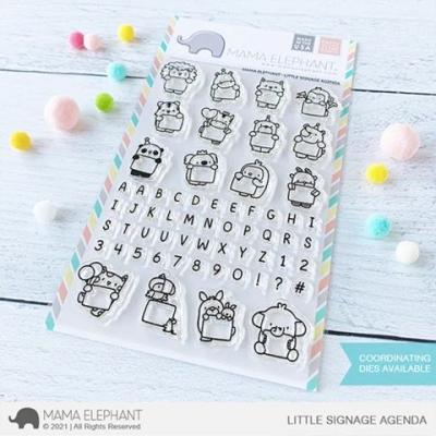 Mama Elephant Clear Stamps - Little Signage Agenda