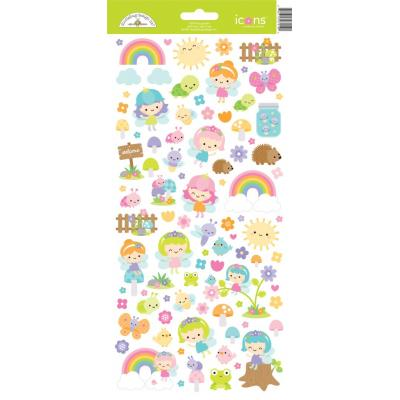 Doodlebug Fairy Garden Sticker - Fairy Garden Icons