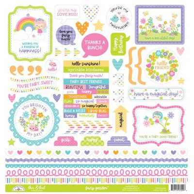 Doodlebug Fairy Garden Sticker - This &That