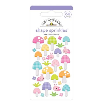 Doodlebug Fairy Garden Sticker - Mushroom Meadow