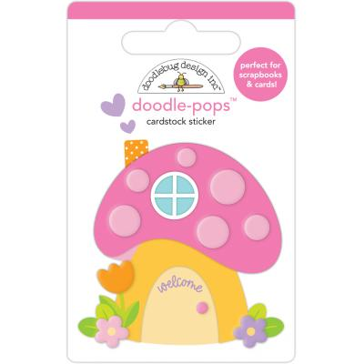 Doodlebug Fairy Garden Sticker - Fairy House