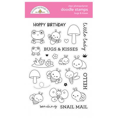 Doodlebug Fairy Garden Clear Stamps - Bugs & Kisses